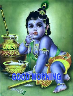 good morning indian god krishna images