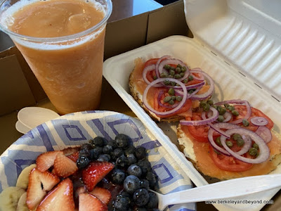 boxed breakfast from Honey Girl Cafe in Cayucos, California