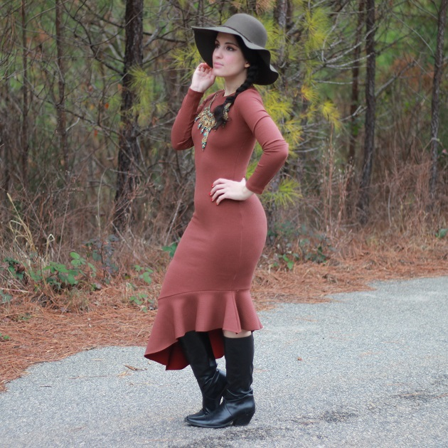 StyleWe Asymmetrical Ruffled Dress