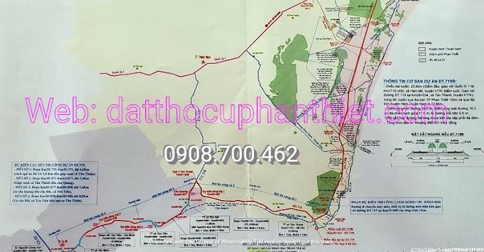 Bình Thuận thi công đường ven biển 719B tổng mức đầu tư 1000 tỷ kết nối vào Cao tốc Dầu Giây - Phan Thiết từ ngày 25/11/2020