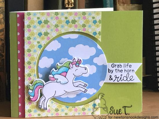 Grab life by the horn and ride by Sue features Believe in Unicorns by Newton's Nook Designs; #newtonsnook
