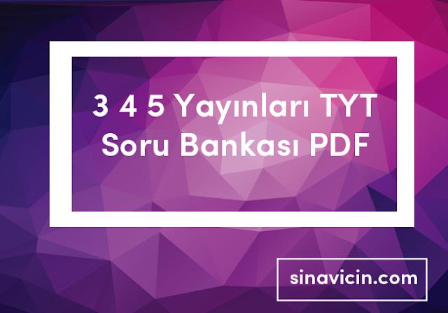 3 4 5 Yayınları TYT Soru Bankası PDF