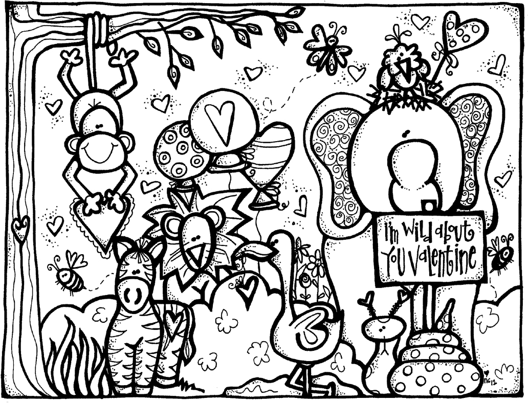 MelonHeadz: Valentine's Day coloring page