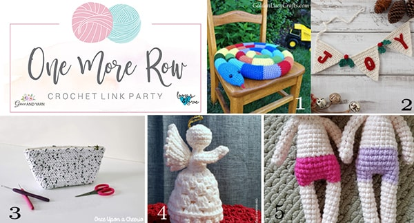 One More Row - Free Crochet Link Party #10 - Grace and Yarn