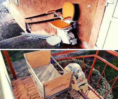 porównanie krzesełka schodowego dla ludzi i zwierząt