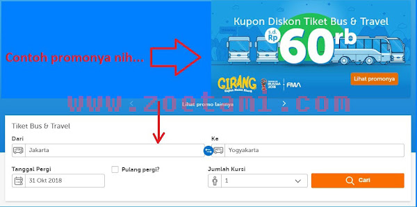 Cara Booking Tiket Bus Online