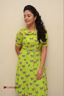 Actress Sri Mukhi Latest Pictures in Green Dress at Mental Movie Audio Launch  0031