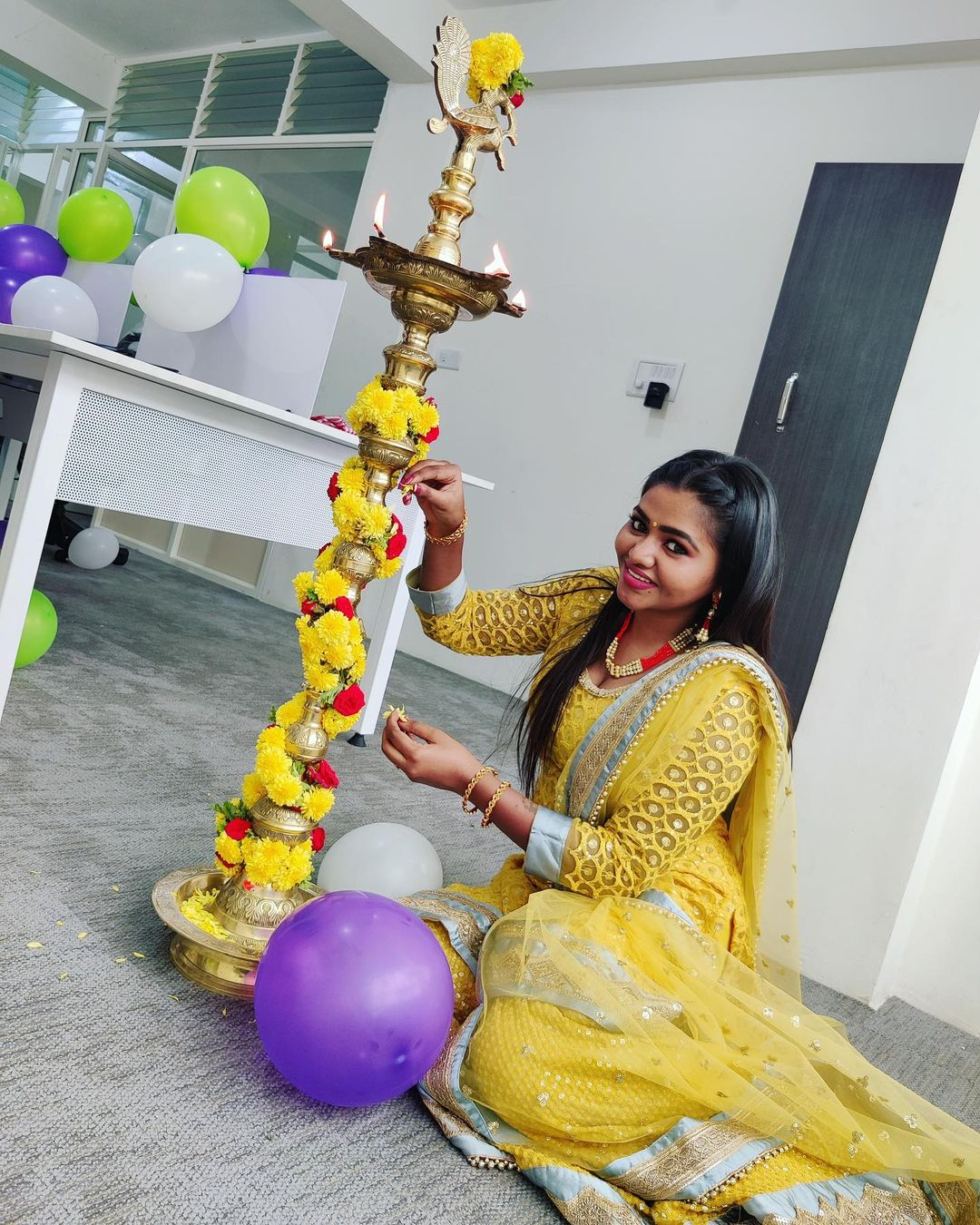 Actress Shalu Shamu Latest Hot Photos in Yellow Dress