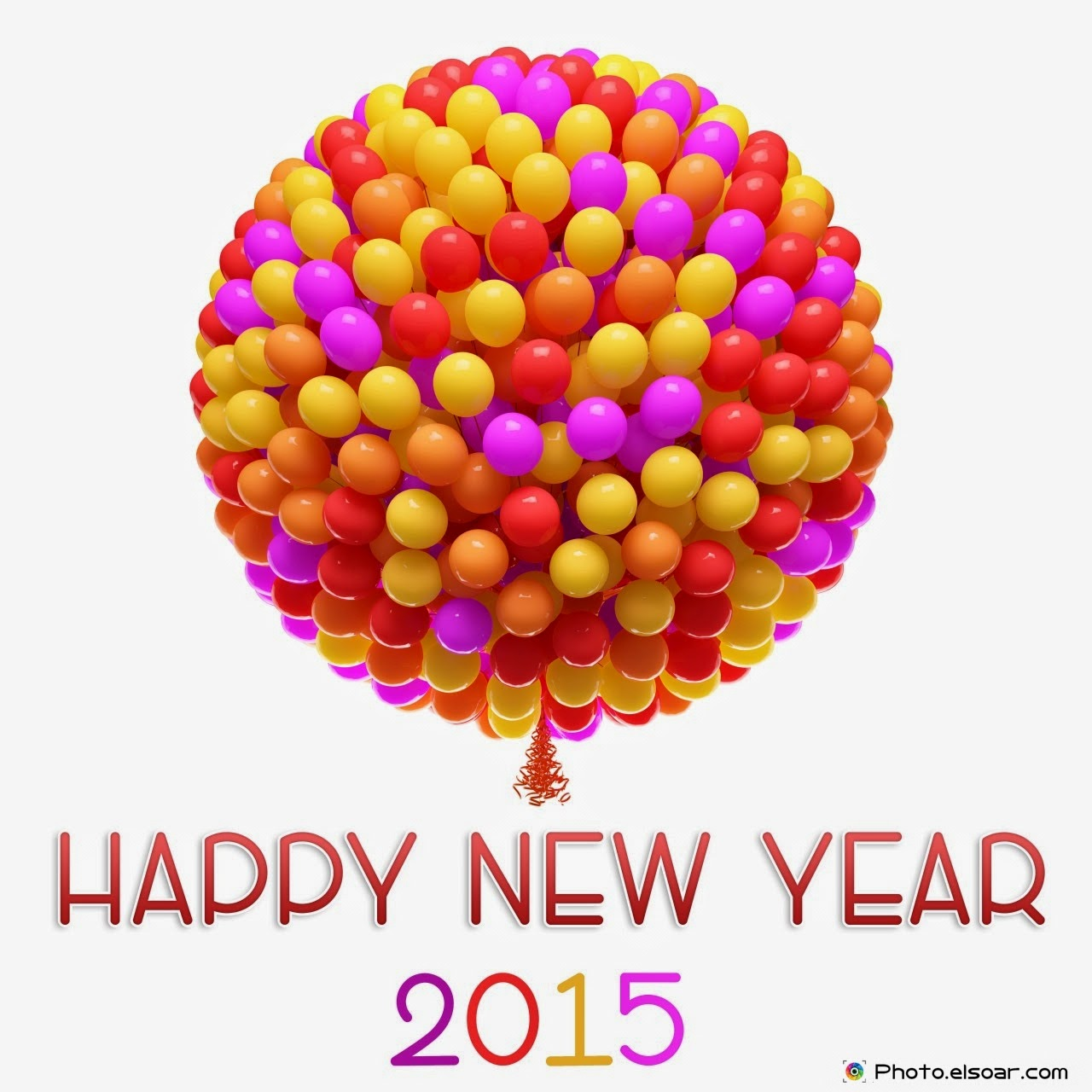 Happy New Year 2018 Big Bunch of Balloons Images Wallpaper