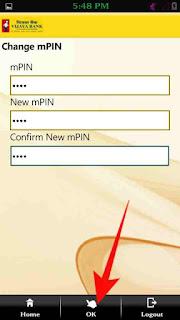 Mobile banking mpin or login password change kaise kare 3