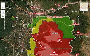 Portland, Oregon Metropolitan Fires Map