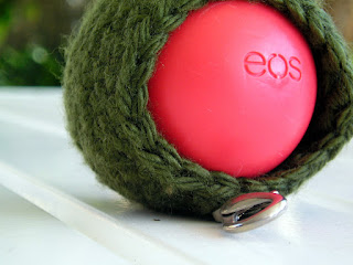 Crochet EOS Holder ~ Egg Lip Balm Keyfob ~ Lip Balm Cover Case ~ EOS Holder with Clip ~ Sphere Lip Balm Cozy