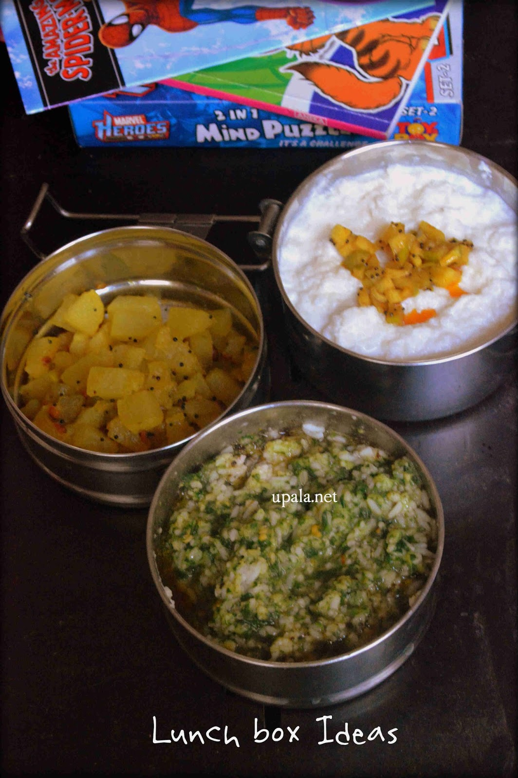 Keerai Sadam Poosanikai Poriyal Curd Rice Lunch Box Ideas