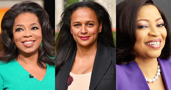 Black women billionaires - Oprah Winfrey, Isabel Dos Santos and Folorunsho Alakija
