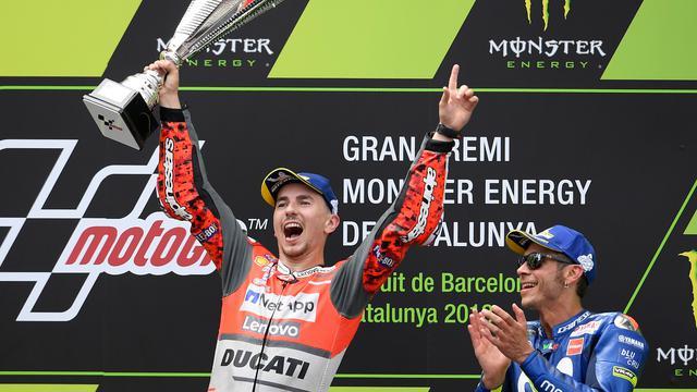 Pembalap Ducati Jorge Lorenzo Juara MotoGP di Catalunya