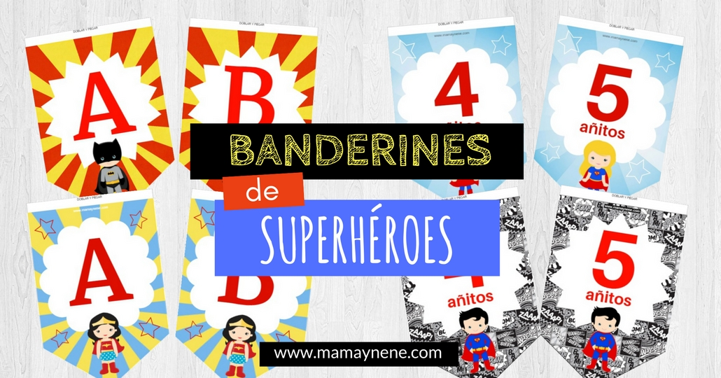 BANDERINES-SUPERHEROES-MAMAYNENE-GARLAND-SUPERHERO-FREEBIES-IMPRIMIBLES-KIDS-INFANTIL