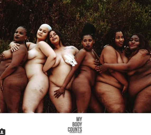 South African Plus Size Women Pose Completely Unclad In -7276