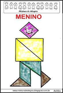 tangram desenho de menino