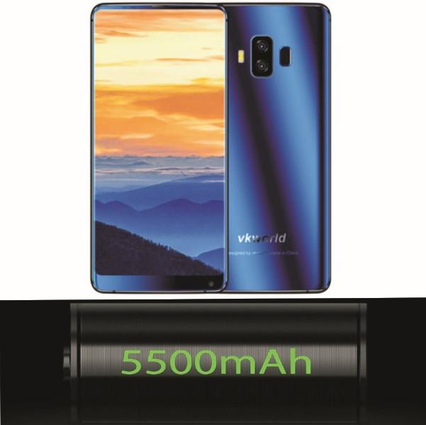 Vkworld S8 Smartphone - Specs: 5500mAh Battery, 8-Core CPU, 64GB/4GB Memory, Triple-Cam, 5.99-Inch Screen, 4G..