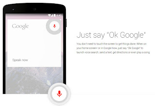 "Say ""Ok, Google"" to start a search from any screen."