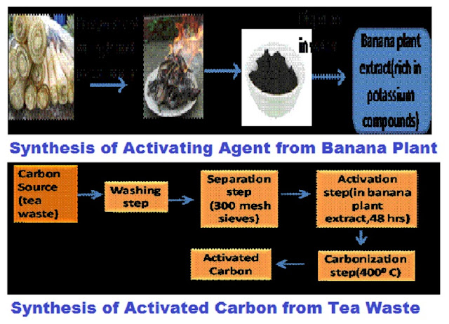 Tea & banana waste used to develop non-toxic activated carbon