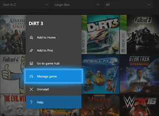 Manage Xbox one Games