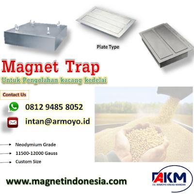 Magnet Trap Type Plat Untuk kacang kedelai
