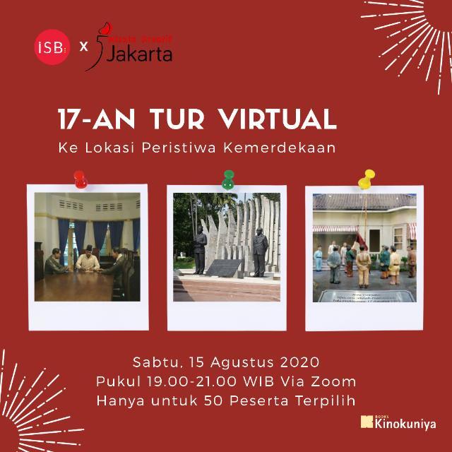 tur virtual isb x wisata kreatif jakarta x kinokuniya
