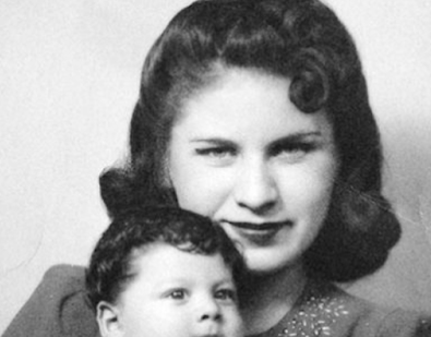 Bea Franco with son, Alberta -- Photo/Beatrice Kozera estate