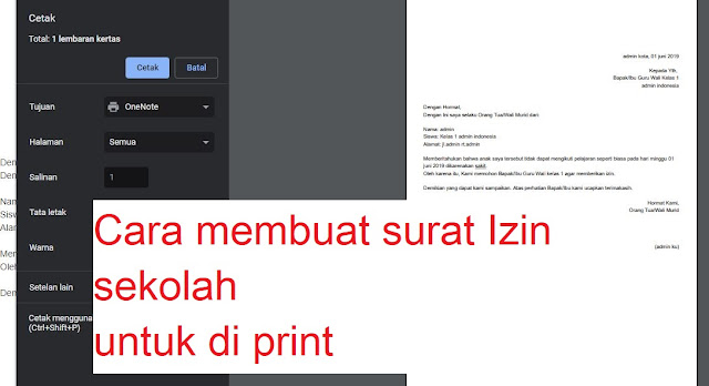 Cara Buat Surat Izin Sekolah Untuk Di Printcetak Ahmad Ansori