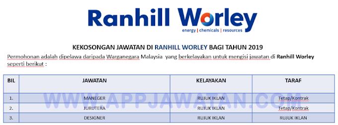 Jawatan Kosong Terkini di Ranhill Worley.