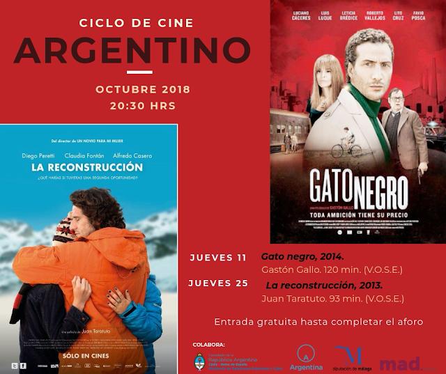 Ciclo de Cine Argentino en el MAD Antequera en Octubre