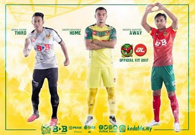 Senarai Jersi Pasukan Liga Malaysia 2017