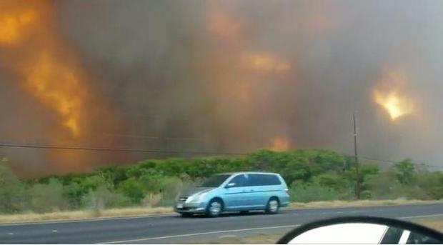 Maui fire: Raging brush fire forces thousands of Hawaiians to evacuate their homes