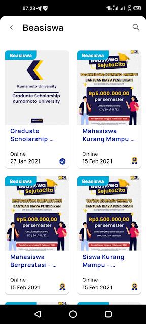 Beasiswa SejutaCita 2021 Untuk SMP/MTs, SMA/MA/SMK & Mahasiswa