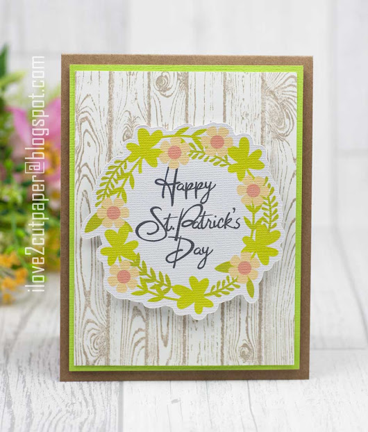 Happy St Patrick's Day card - Print and Cut