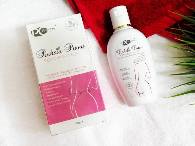 Pro.Care Rahsia Puteri Feminine Wash Membersih dan Mengekalkan Kesihatan Bahagian Intim Wanita