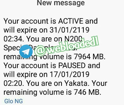 GLO 1.2GB FOR N200 DATA VALIDITY TO YEAR 2119