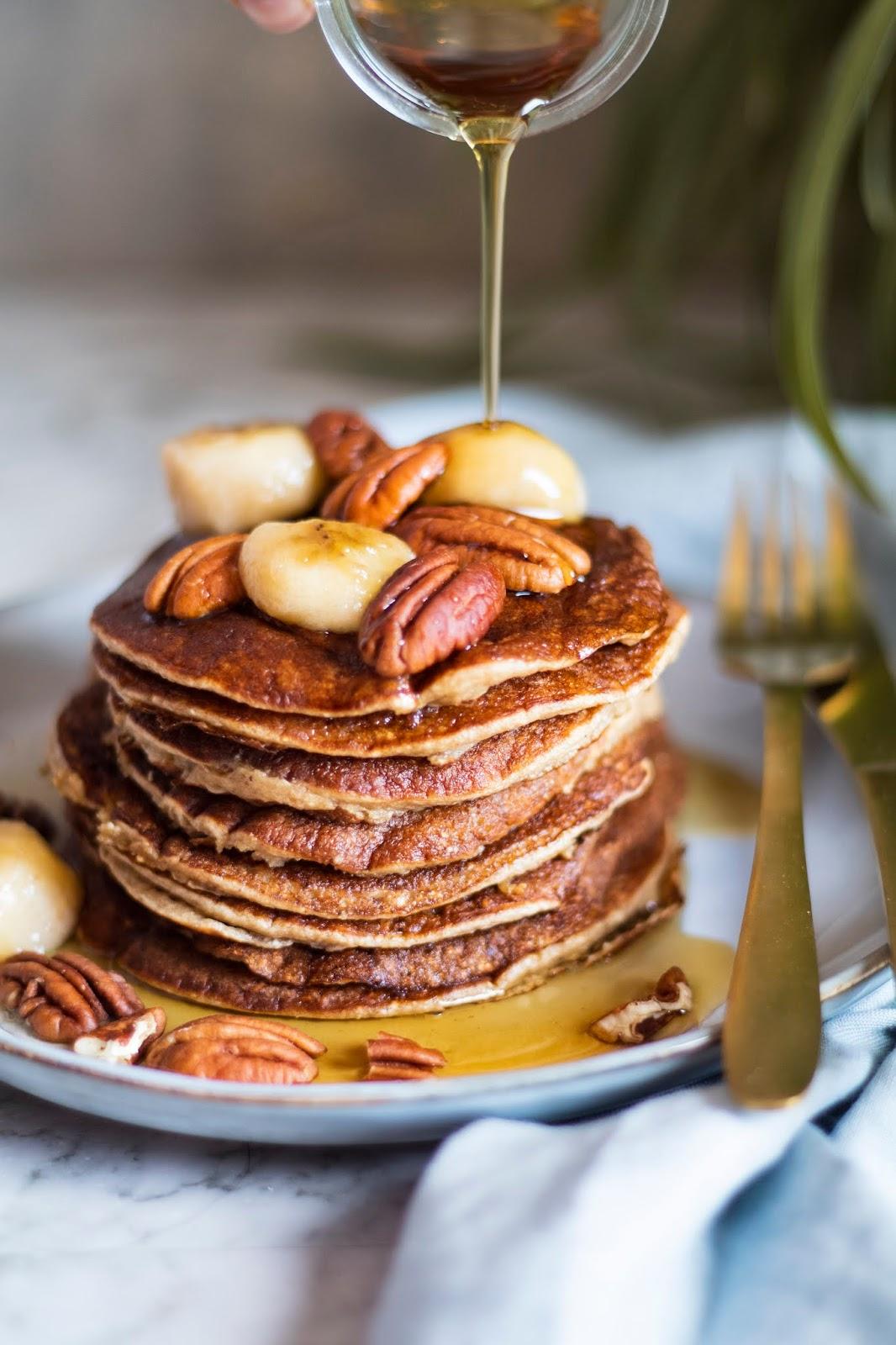 Recette saine de pancakes à la banane et flocons d'avoine
