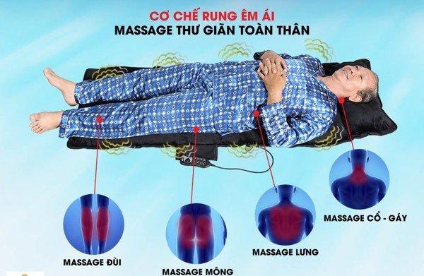 Nệm massage xoa bóp vùng lưng Bella Mishio