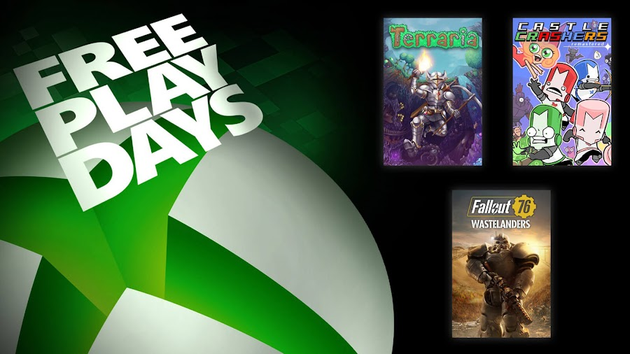 castle crashers remastered fallout 76 wastelanders terraria xbox live gold free play days event