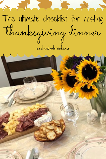 thanksgiving hostess tips and ideas; thanksgiving dinner checklist; thanksgiving ideas