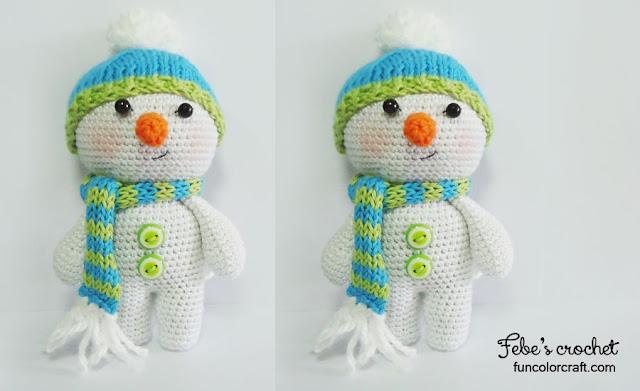 Snowman Christmas Amigurumi Crochet Pattern Free