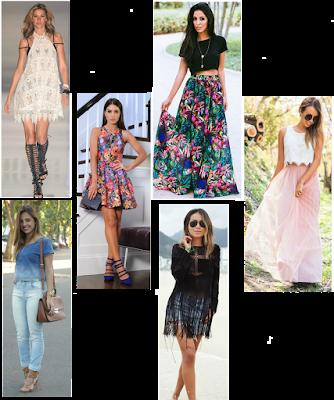 Look, mulher, estampa, floral,primavera, franja, renda, vestido, cropped
