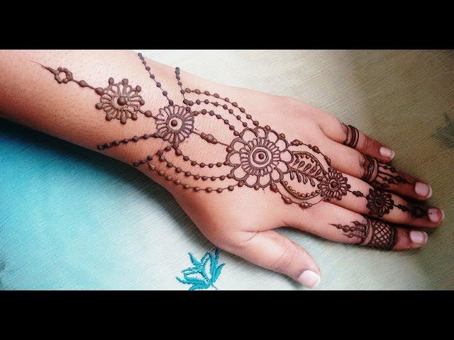 Finger Mehndi Design Back Side