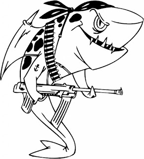 Megalodon Coloring Sheet Animals For Kids