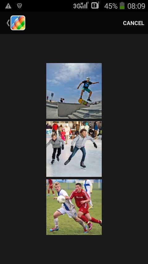 Pilih foto berasal dari gallery