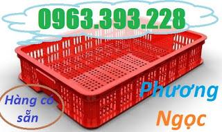 Sóng nhựa hở HS010, sọt nhựa cao 10 đựng nông sản, thùng nhựa rỗng HS010 SR3