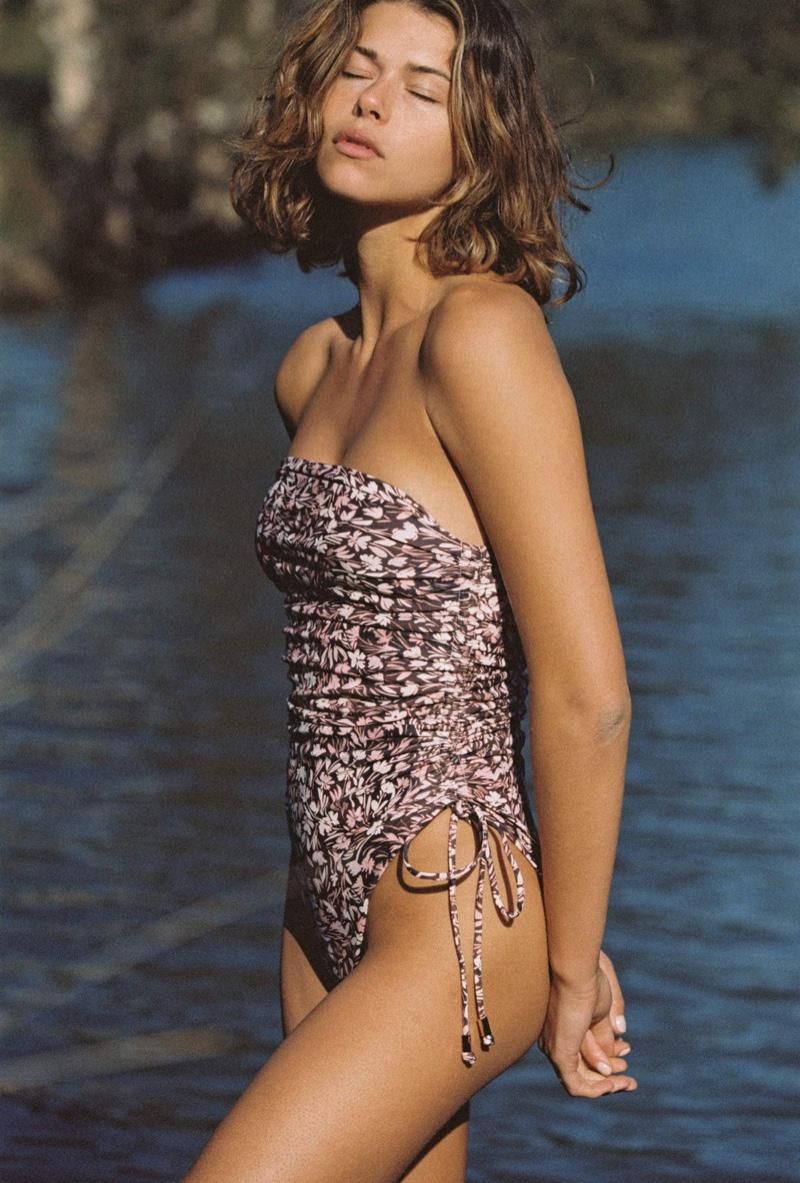 Model Georgia Fowler wears Juillet The Lennox one piece swimsuit.