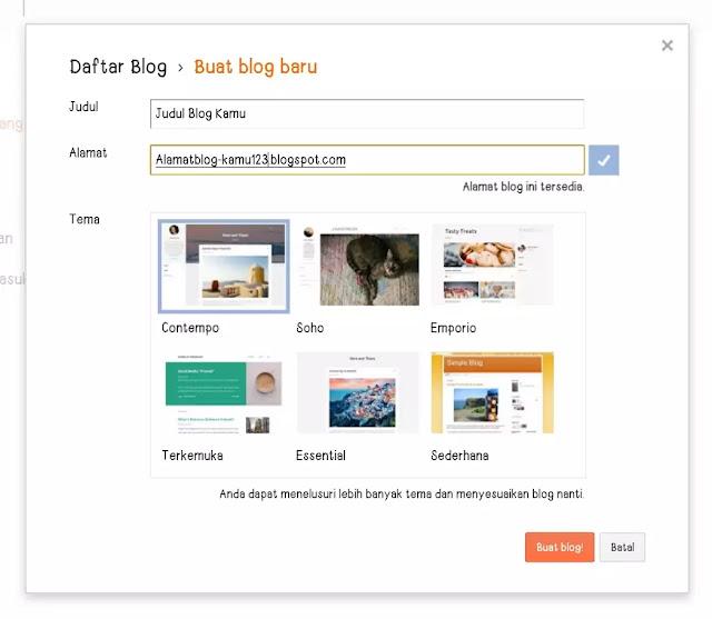 Daftar Blog Baru Blogger.com